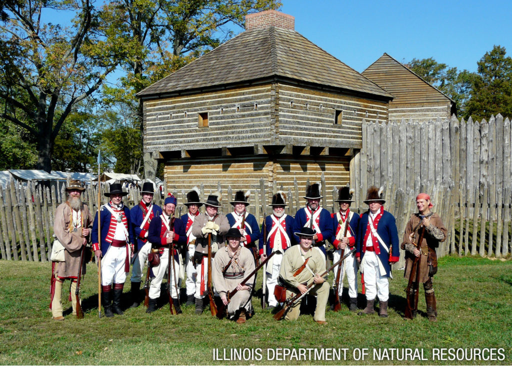 Fort Massac reenactors